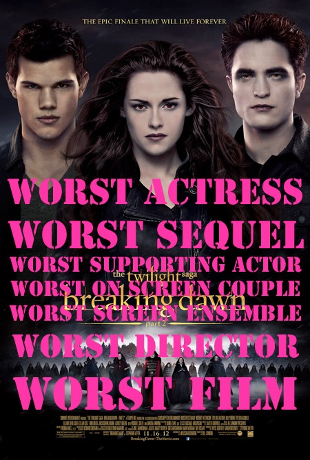 'The Twilight Saga: Breaking Dawn – Part 2′ Is The WORST Of The WORST At The 2013 Golden Raspberry Awards!