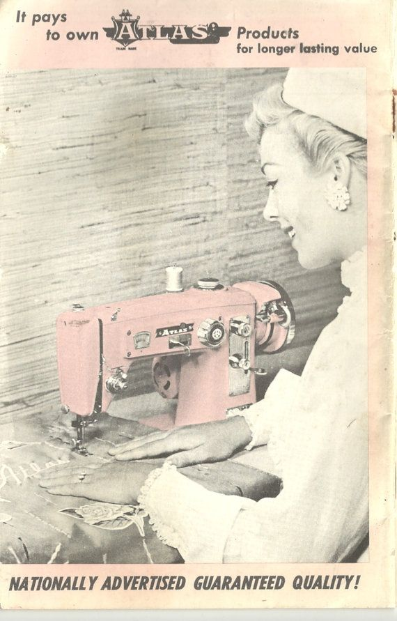 Pink atlas sewing machine instruction manual instant download | etsy.