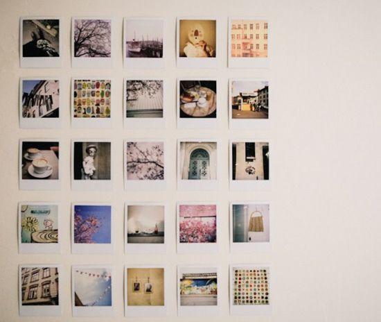 1000 ideen zu polaroid wand auf pinterest fotow nde for Polaroid wand