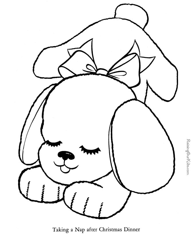 p is for puppy coloring pages - photo #23