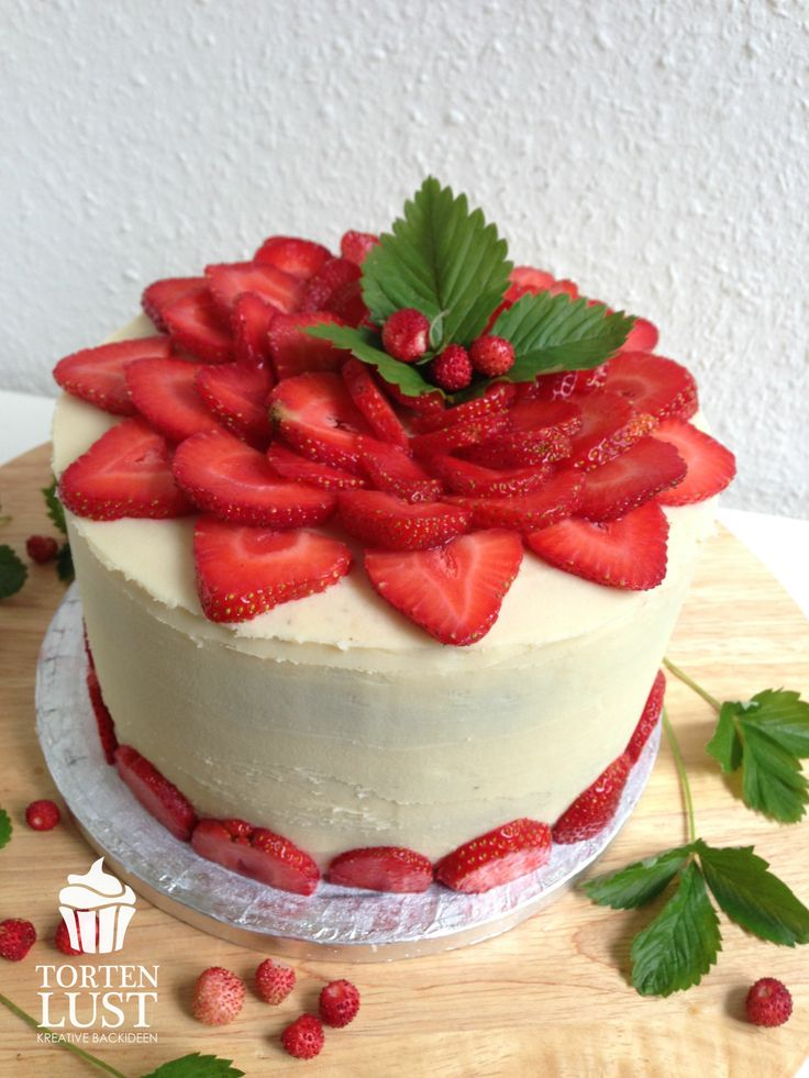 ... strawberry cake | Torten | Pinterest | Torte, Strawberry cakes and