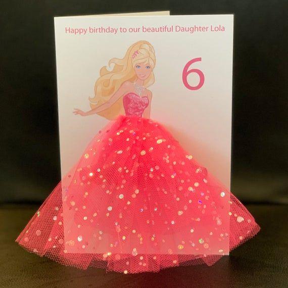 Pin By Merike Lille On Diy Barbie Birthday Unicorn Birthday Cards Birthday Cards