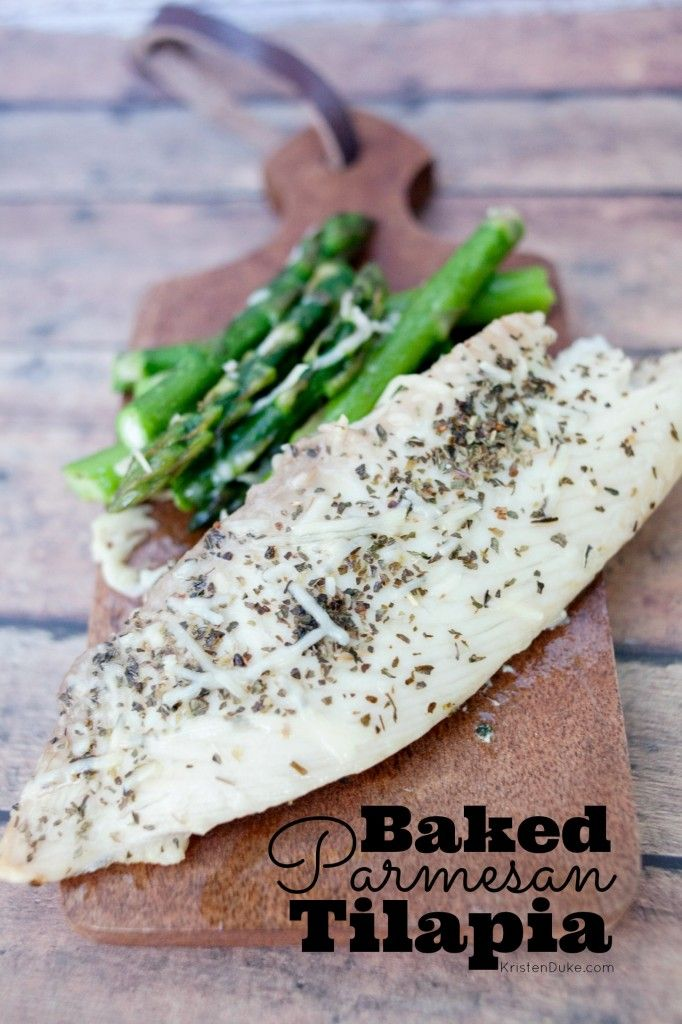 Baked Parmesan Tilapia - fast and easy way to cook fish for a healthy dinner meal KristenDuke.com