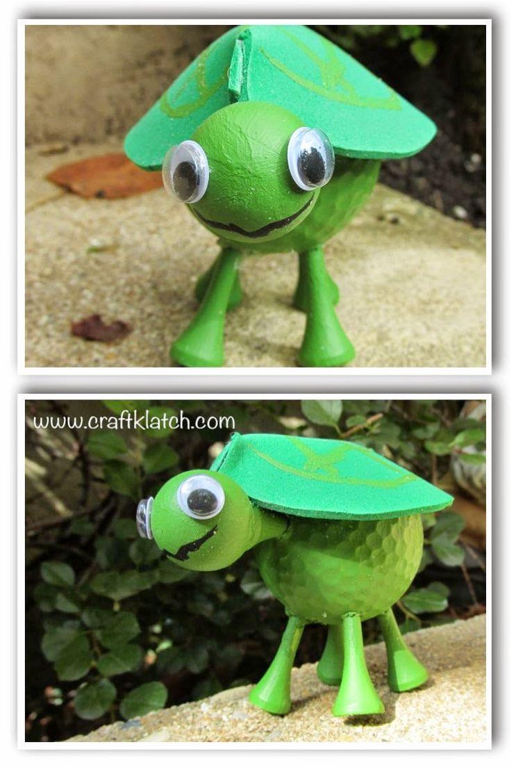 Craft Klatch: Golf Ball Turtle Recycling Craft DIY