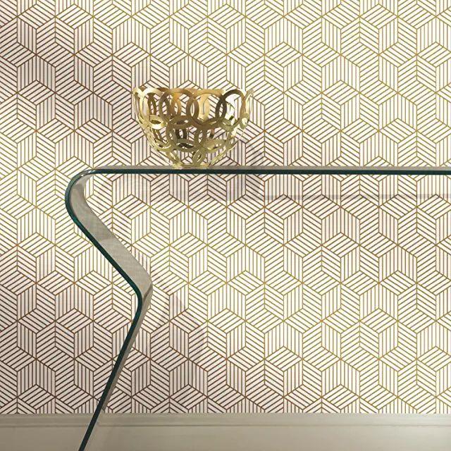 Amazon Com Tempaper Mid Century Modern Wallpaper Peel And Stick Wallpaper Hexagon Wallpaper