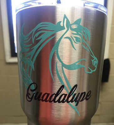 Personalized Horse Western Cup Decals For Yeti And Rtic