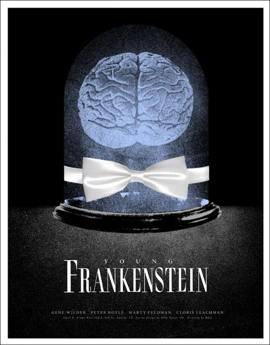 Mondo: The Archive | Alan Hynes - Young Frankenstein- Variant, 2009  One of my favorite movies. Abby normal?   #mondo #youngfrankenstein