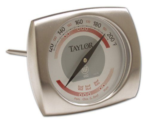 Taylor Elite 602 Meat Roasting Thermometer by Taylor. $14.12. Unique Elite Design. NSF Listed. Measures 120 to 220 F. Elegant Stainless Steel design. 2.1-Inch Dial. The e newest addition to the Taylor Gourmet kitchen tools is the Elite Series. Found only in Gourmet stores for the past year -they have finally come to Amazon. The Elite Series features elegant ,sleek designs with easy to read dials. Taylor accuracy based on a 250 year tradition of accuracy in our Taylor and Salter ...