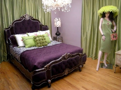 Awesome Purple And Green Bedroom.