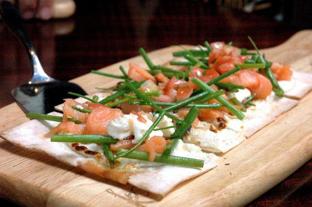 Long Bar's Salmon Tarte Flambee