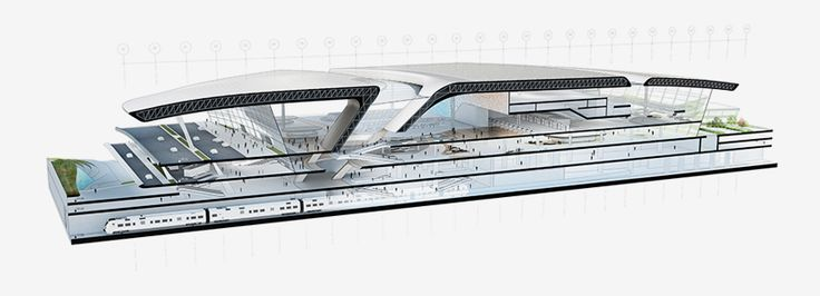 UNStudio has unveiled their proposed design for terminal 3 of taiwan's taoyuan international airport.