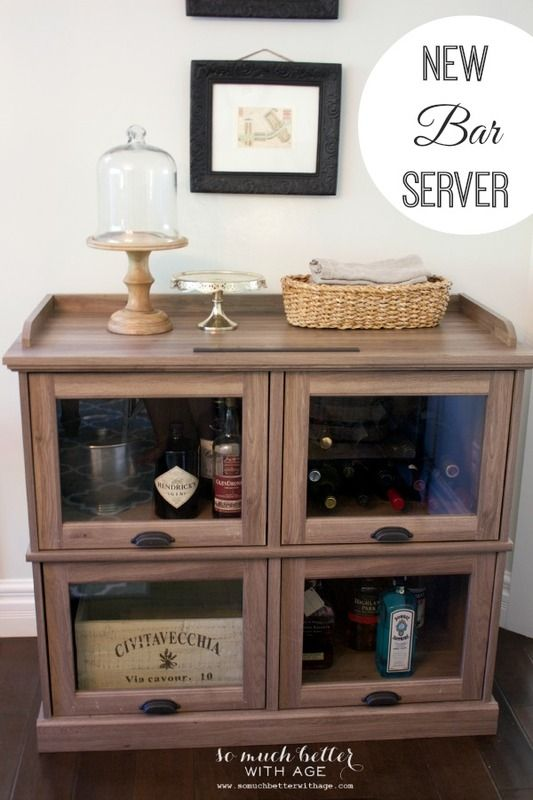 Highboy TV Stand - looks good as a drinks cabinet