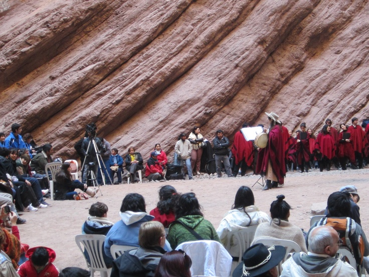 The Quebrada de las Conchas, Salta province.  A concert in honor of the Pachamama was taking place the day I visited...