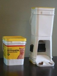 Automatic Cat Feeders and Elevated Feeder Installation http://www.cleaverkittycats.com/product-category/cat-feeders/fountains/