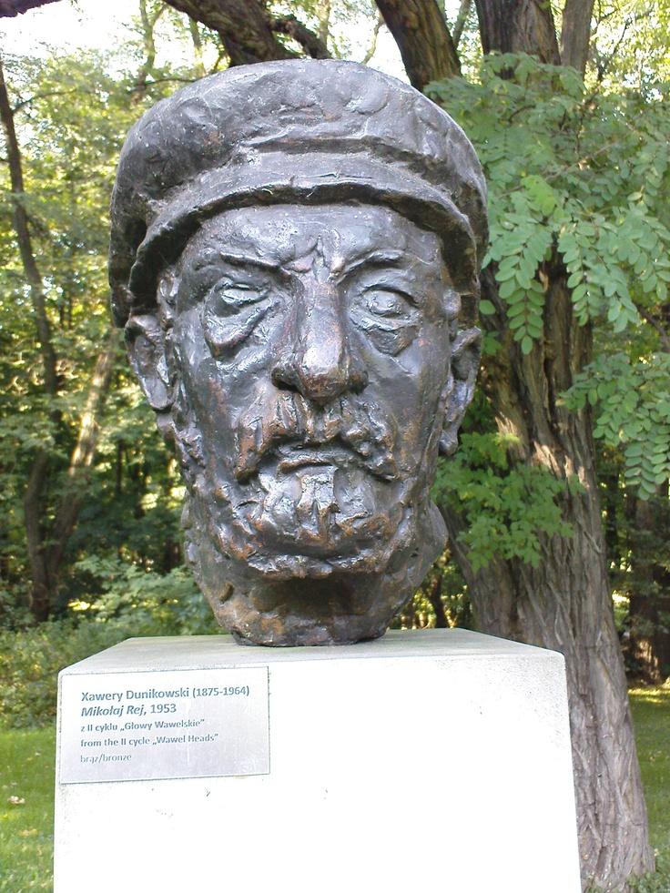 xawery dunikowski, mikołaj rej (z cyklu: głowy wawelskie), 1953, brąz, królikarnia-warszawa