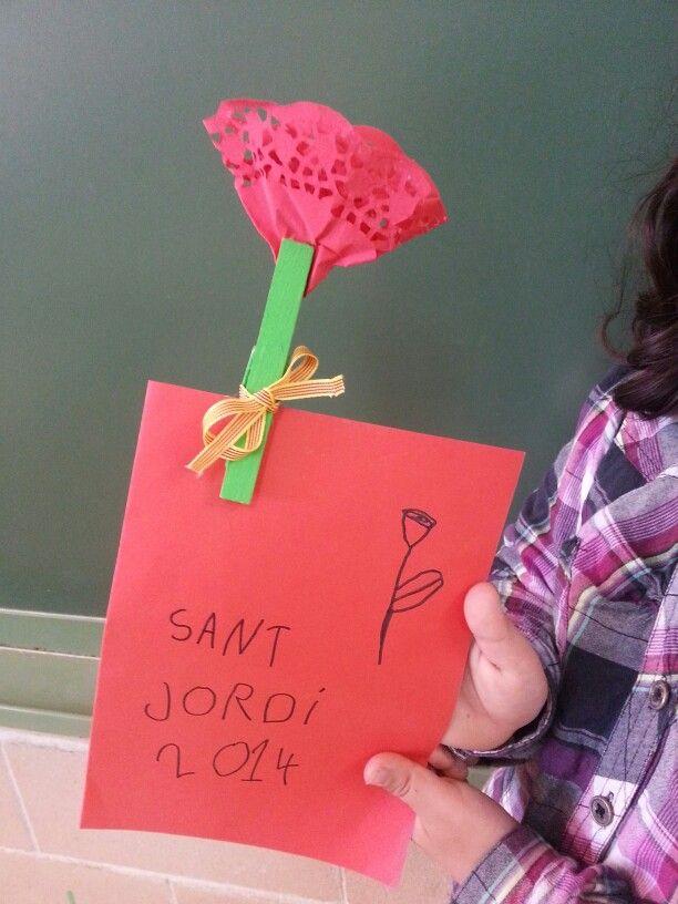 Llegenda de Sant Jordi amb la rosa-P5