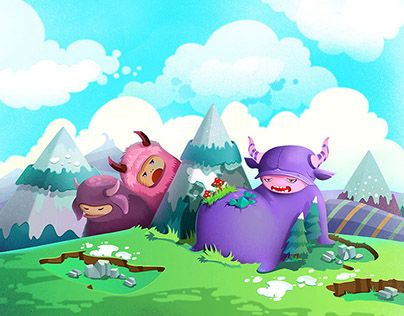 """Check out new work on my @Behance portfolio: """"Monster's World"""" http://on.be.net/1V9m3TY"""
