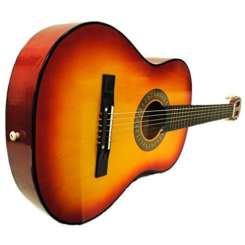 """A new MUST have! 38"""" Starter Acous... check it out @ http://guitarisms.com/products/38-starter-acoustic-guitar-with-performer-package-kit-bag-tuner-pick-cherry-sunburst?utm_campaign=social_autopilot&utm_source=pin&utm_medium=pin"""