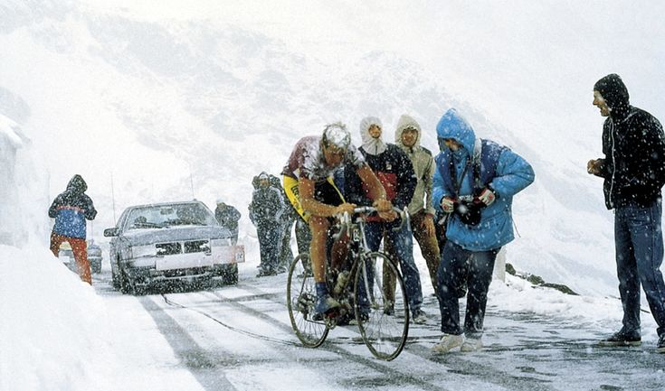 Erik Breukink on the Gavia Pass