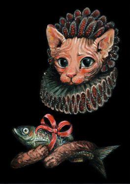 Elli Maanpää Art - Portrait: Sphynx Cat - 21cm x 29cm - 2016
