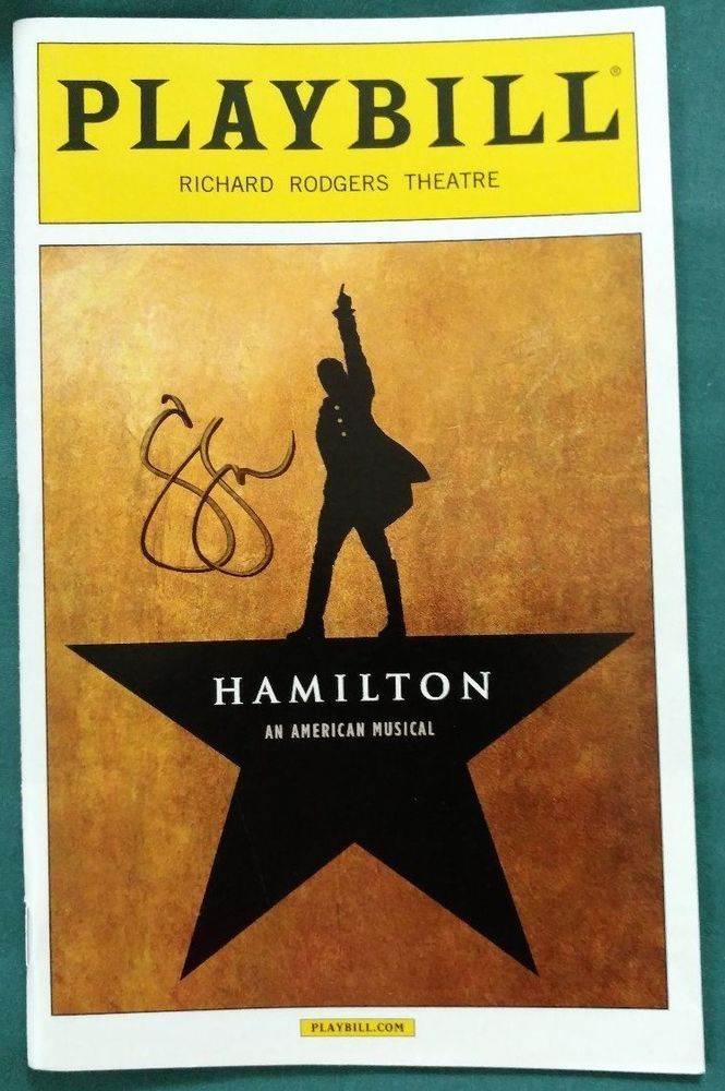 HAMILTON Lin MUSICAL SIGNED Sydney James Harcourt PLAYBILL AUTOGRAPH BROADWAY  | Entertainment Memorabilia, Autographs-Original, Theater | eBay!