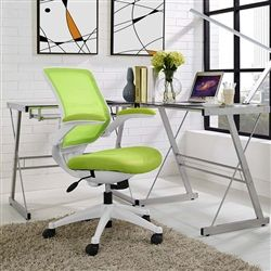 This Bright Green And White Computer Chair Is An Absolute Bargain Buy At Just 15099 GreenOffice ChairsThe