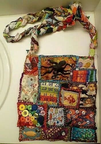 Homemade craft/bohemian bag. Artist unknown.