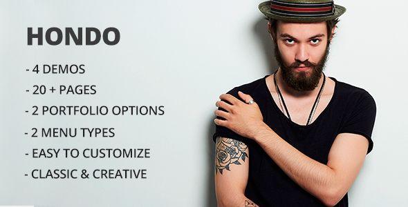 Hondo - Multipurpose Personal Portfolio / CV / Resume Template