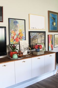 I'm sure you've seen all the tutorials for Fauxdenzas floating around the web the past few years. I love the concept of IKEA kitchen cabinet uppers being mounted directly to the wall at a traditional credenza height (30-36″ AFF). The no-leg look is clean and airy and perfect for small or awkward spaces that need …