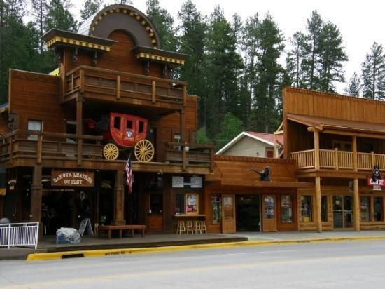 The town of keystone is really neat. There's one place where you can go down in underground caves. I went in but chickened out.  Gord