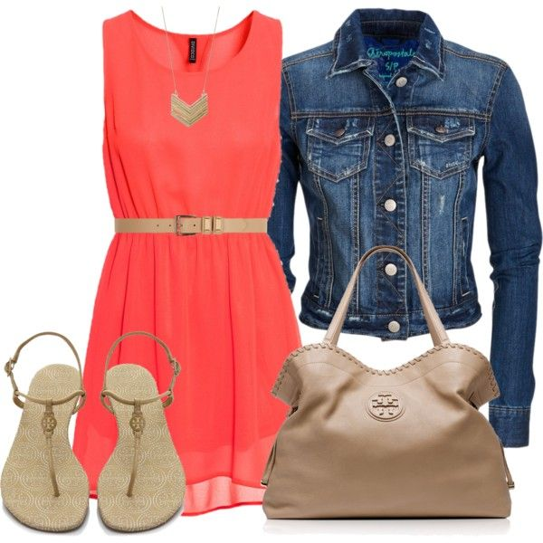 Casual Dress, jean jacket, sandals, nude bag, nude belt, gold accessories