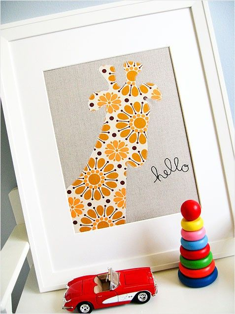 """This craft is """"Sew Sweet"""" for a kids' room! #giraffe"""