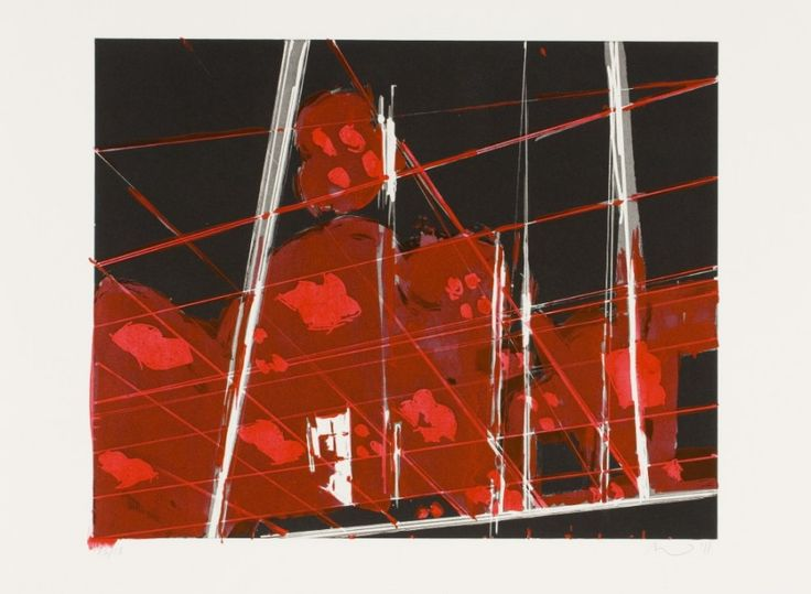 Spots 15 (2011). Aquatint and Hand-Painting