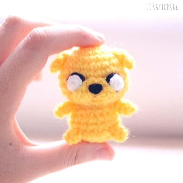 The Adorable Adventure Time Amigurumi Dolls - Jake | These are so freaking cute! I want 'em all! :P