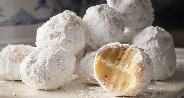 Τρουφάκια λευκής σοκολάτας με μανταρίνι