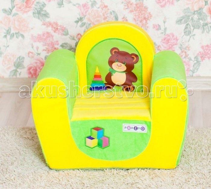 Paremo Детское кресло Медвежонок  Paremo Детское кресло Медвежонок обязательно понравится ребенку, и прекрасно дополнит любой детский интерьер. Кресло бескаркасное, мягкое и эргономичное, что делает его максимально удобным для малыша.   Особенности: Создано для мальчиков и девочек в возрасте 1-4 лет Кресло имеет бескаркасную и абсолютно безопасную для малыша конструкцию Сидение мягкое и эргономичное, принимает нужную форму под весом ребенка Размеры креслица: 54 х 45 х 38 см. Вес: 3 кг Высота…