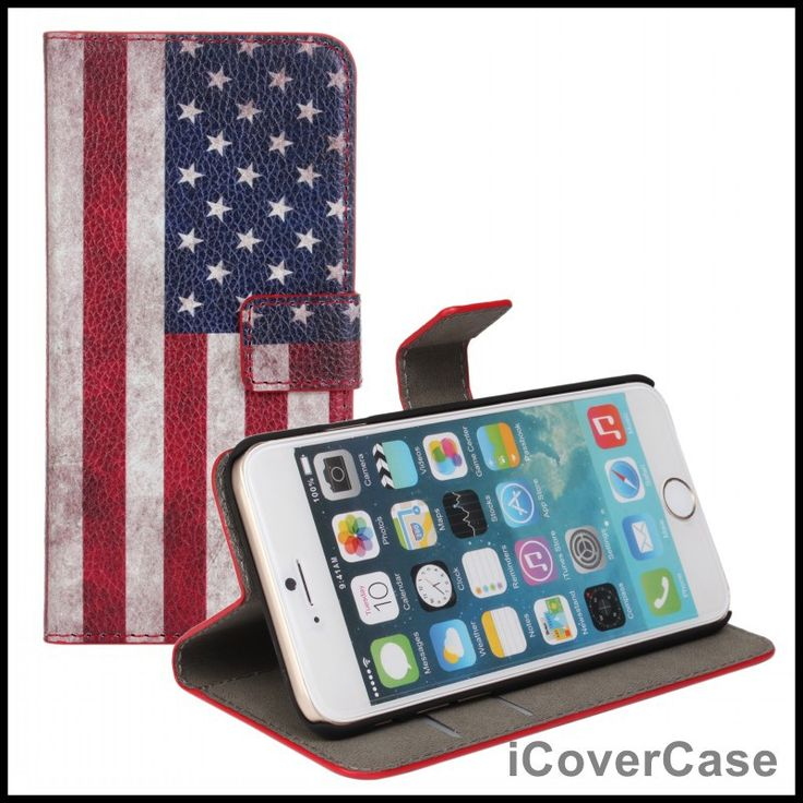 Coque for iPhone 6s Case Flip Leather Wallet Cover Fundas for iPhone 6 Carcasas Hoesjes Shell Funda Capa UK USA Flag Retro Cases
