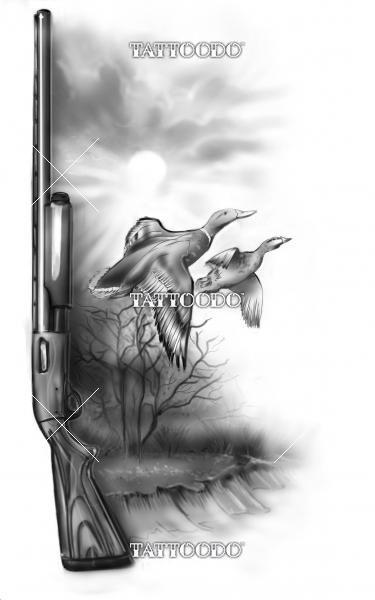 "Winning design for ""duck hunting theme tattoo"" | Tattoodo.com"
