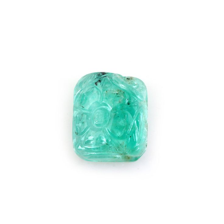 Natural Untreated Emerald Handmade Carving by TRUTHFINEJEWELLERS on Etsy