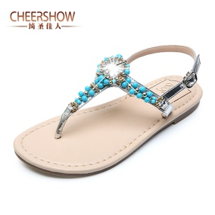 2013 new summer bohemian sexy beaded flat sandals