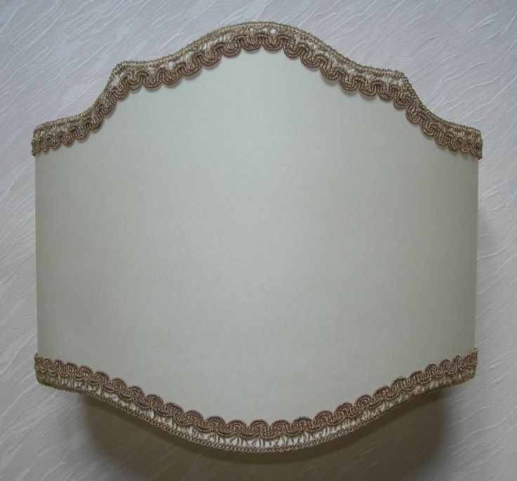Wall Light Half Lampshade in Parchment Wall Lamp