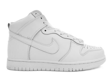 Nike Dunk High All White For Women