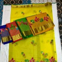 Latest Organza Sarees With All Over Embroidery work | Buy On...