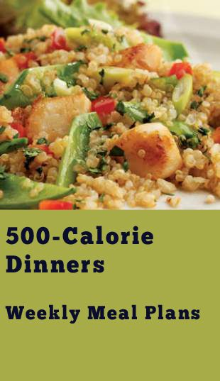 500-Calorie Dinners Meal Plan | Recipes