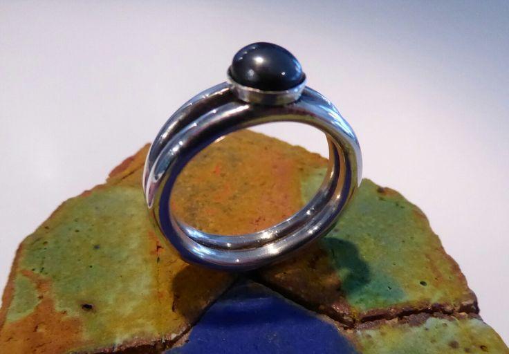 Ring with Hematite/bloodstone