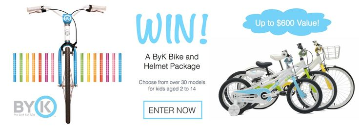 Win a ByK Bike and Helmet Package worth over $600