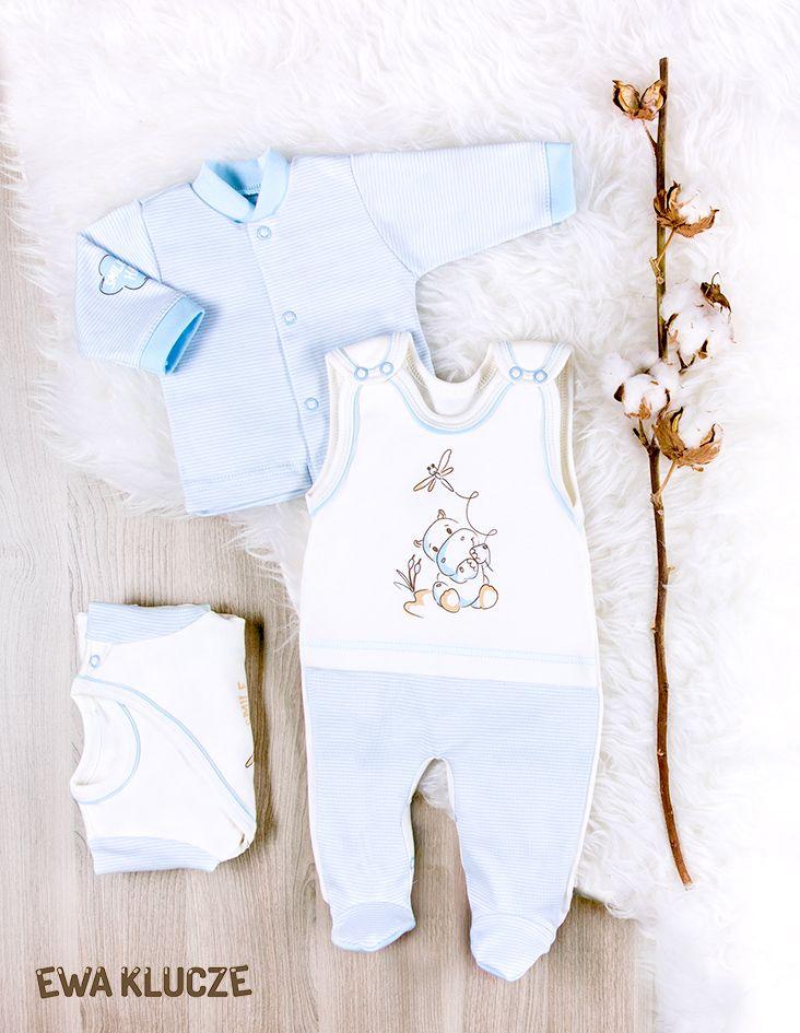 EWA KLUCZE, kolekcja BE HAPPY dla wcześniaków, komplet niebieski śpioch i kaftan, body EWA KLUCZE, BE HAPPY collection, dungarees and jacket set, bodysuit, baby clothes