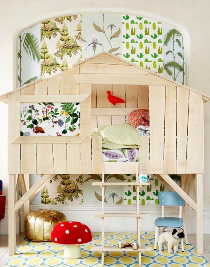 les 25 meilleures id es de la cat gorie lit cabane fille. Black Bedroom Furniture Sets. Home Design Ideas
