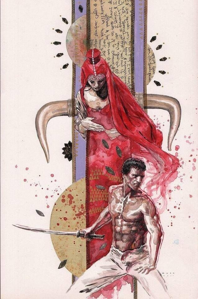 David mack painting for the back cover of the immortals book