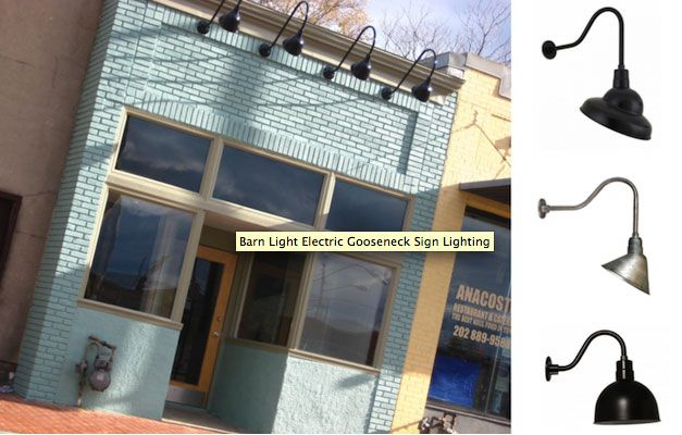 Example of exterior lighting for your historic storefront